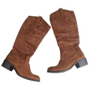 Wild Diva Brown Slouchy Western Boots 7